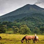 The Arenal Volcano is one of the most active and visited volcanoes